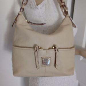 Dooney &Bourke cream leather shoulder bag